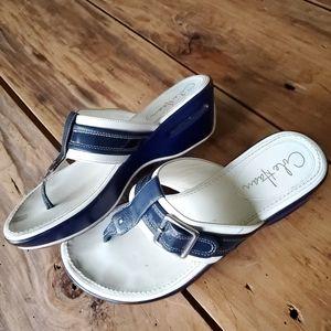Cole Haan Nike Air sandal thong wedge size 6